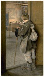 Н.Богданов-Бельский. У дверей школы. 1897