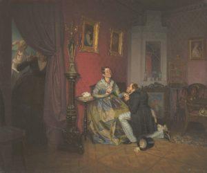 П. Федотов. «Разборчивая невеста». 1847, ГТГ