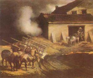 Жерико. Пейзаж с печью для обжига извести