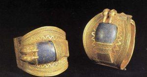 Браслеты Рамсеса II. Ок. 1290 до н. э. Золото, лазурит