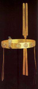 Диадема царевны Сат-Хатхор-Иунит. Ок. 1800 до н. э. Золото, лазурит, сердолик, зеленый фаянс