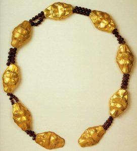 Пояс царевны Меререт. Ок. 1840 до н. э. Золото, аметист