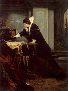 Елизавета подписывает смертный приговор Марии Стюарт